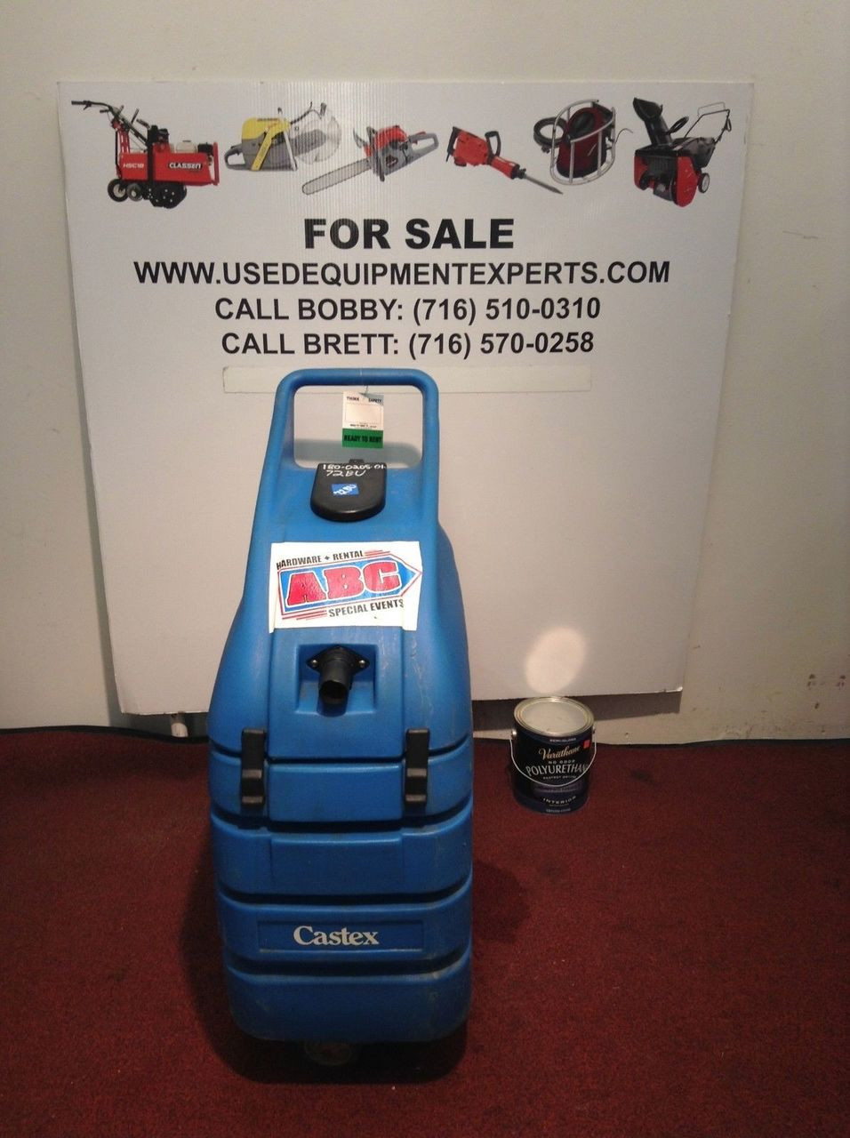 Commercial Used Castex Carpet Cleaner Rug Wet Dry Vacuum