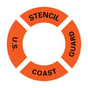 US Coast Guard Ring Buoy Stencil