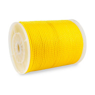 "1/4"" Three Strand Rope, Yellow"