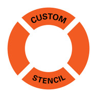 Custom Stencil for Ring Buoy