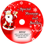 Santa Message Personalized Christmas Music CD