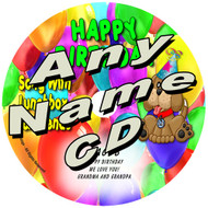 CUSTOM NAME - Personalized Happy Birthday Song Personalized Kids Music CD