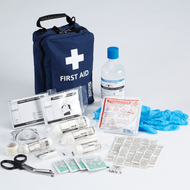 Travel First Aid Kit for Lone & Offsite Worker (BS8599-1) in a compact bag