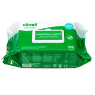Clinell Universal Wipes in a Dispenser Pack of 200 wipes