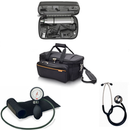 Medical Practitioner and Students Diagnostic Kit - Basic, includes GP Medical Bag, Welch Allyn Diagnostic Set, Aneroid BP Monitor, Dual Head Stethoscope