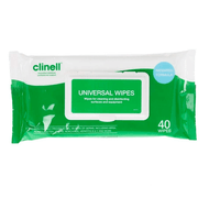 Clinell Universal Wipes for Cleaning as well as Disinfection of Surfaces and Equipment.