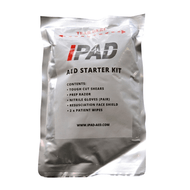 iPAD AED Starter Kit in a sealed foil bag