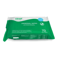 Clinell Disinfecting Wipes , handy pack of 72 wipes