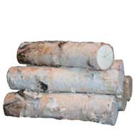 Large White Birch Logs Fireplace Sets