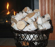 Pieces of White Birch Logs (15 lbs)