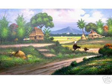 Countryside 36x60 Art Philippines Oil Painting