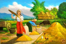 Harvest 24x36 by Cristobal Art Philippines Oil Painting