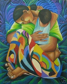 Mother & Child Banzil Art Philippines Oil Painting Free Shipping
