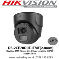 Hikvision DS-2CE70D0T-ITMF 2MP 2.8mm 4-in-1 Fixed Lens 20m IR IP67 Mini Turret Camera