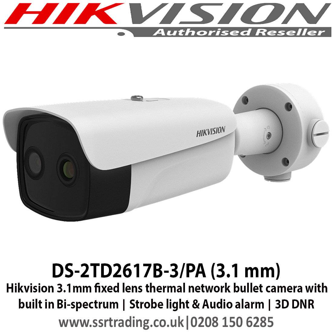 Hikvision - 3.1mm fixed lens thermal network bullet camera ...
