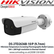 HIKVISION DS-2TD2636B-10/P 9.7mm fixed lens thermographic bullet body temperature measurement camera