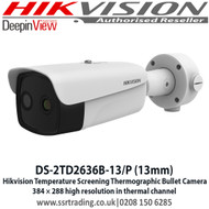 Hikvision body temperature measurement bullet camera DS-2TD2636B-13/P 13mm fixed lens thermographic bullet camera