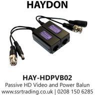 Passive HD Video and Power Balun - HAYDON HAY-HDPVB02