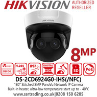 Hikvision 8MP 180° PanoVu Network Camera - DS-2CD6924G0-IHS(/NFC)