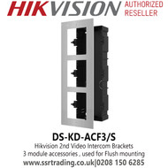Hikvision 3 module accessories , used for Flush mounting - DS-KD-ACF3/S