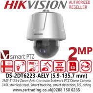 Hikvision Anti-corrosion DarkFighter Network Speed Dome Camera - DS-2DT6223-AELY