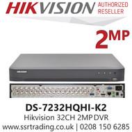 Hikvision 32 Channel 2MP HDTVI/AHD/CVI/CVBS/IP H.265 Compression 2 SATA 32Ch DVR DS-7232HQHI-K2