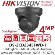Hikvision 4MP 2.8mm Lens IP PoE Darkfighter 30m IR EXIR Turret Camera in Grey DS-2CD2345FWD-I/Grey