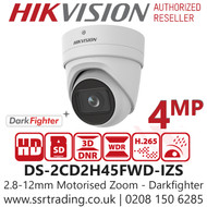 Hikvision 4MP IP PoE 2.8-12mm Motorised Lens 30m IR Distance Darkfighter Turret Network Camera DS-2CD2H45FWD-IZS