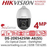Hikvision 4MP Smart Auto Tracking  25x Optical Zoom AcuSense Darkfighter 150m IR Range Network Speed Dome PTZ Camera DS-2DE5425IW-AE(S5)