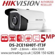 Hikvision 5MP 2.8mm Lens 40m IR Range EXIR Bullet Camera DS-2CE16H0T-IT3F