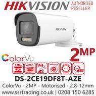 Hikvision 2MP 2.8-12mm Motorized Lens ColorVu 40m White Light Range PoC Bullet Camera DS-2CE19DF8T-AZE