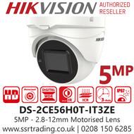 Hikvision 5MP 2.7-13.5mm Lens Motorized Lens 40m IR Range EXIR PoC Turret Camera DS-2CE56H0T-IT3ZE