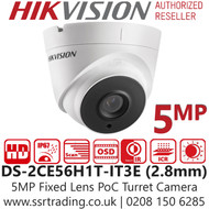 Hikvision 5MP 2.8mm Lens 40m IR Range PoC EXIR Turret Camera DS-2CE56H1T-IT3E