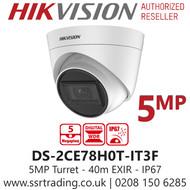 Hikvision 5MP 2.8mm Lens 40m IR Range EXIR Turret Camera DS-2CE78H0T-IT3F