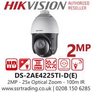 Hikvision 2MP PTZ 25 x Optical Zoom 4.8-120mm Lens 100m IR Range -DS-2AE4225TI-D(E)