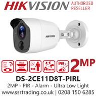 Hikvision 2MP 2.8mm Lens 20m IR Range Ultra Low Light PIR Bullet Camera - DS-2CE11D8T-PIRL (2.8mm)