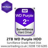 """2TB WD Purple SATA Surveillance 24x7 Storage Hard Drive HDD 3.5""""  WD20PURZ"""