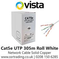 Vista Cat5e Outdoor Network Cable Solid Copper 305m - White