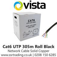 Vista Cat6 Outdoor Network Cable 305m Solid Copper Black