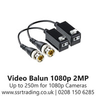 BNC Passive Pigtail Video Balun 4 in 1 up to 1080p 2MP TT-105AP-O