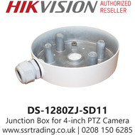 Hikvision Junction box Suitable for 4-inch PTZ camera - DS-1280ZJ-SD11