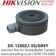 Hikvision Junction Box For IT3F/IT3 Series Turret Grey Cameras - DS-1280ZJ-XS/GREY