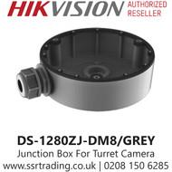 Hikvision Flush Junction Box  IP Turret Cameras in Grey DS-1280ZJ-DM8/GREY