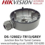 Hikvision Flush Junction Box Turret Cameras in Grey - DS-1280ZJ-TR13/GREY