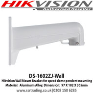 Hikvision Wall Bracket for Large PTZ Cameras - DS-1602ZJ/Wall