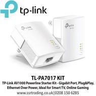 TP-Link AV1000  Gigabit Powerline Kit Pair - TL-PA7017 KIT