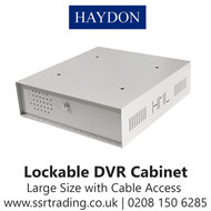 HAY-LDVR Cabinet DVR Lockable with Cable  Access Large Size (HAY-LDVR-LGR)