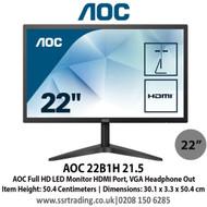 AOC 21.5 - Full HD 1080p LED Monitor HDMI  - 22B1H
