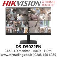 "Hikvision 21.5"" Borderless LED Monitor 1080p - DS-D5022FN"