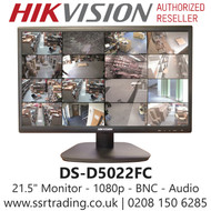 """Hikvision 22"""" HDMI VGA BNC LED Monitor Build-In Speakers 1080p BNC Input - DS-D5022FC"""